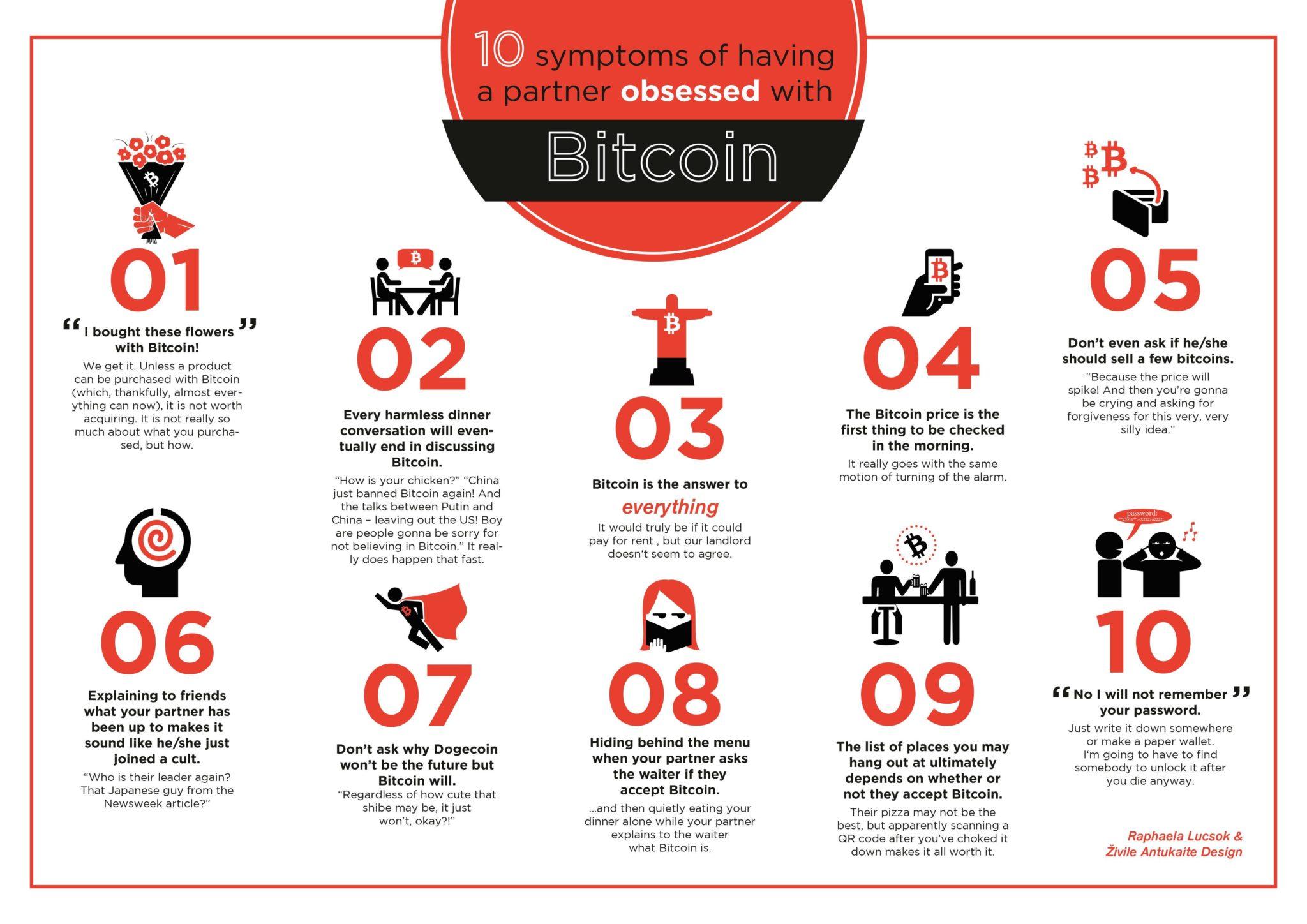 10 признаков того, что ваша вторая половинка помешана на Bitcoin