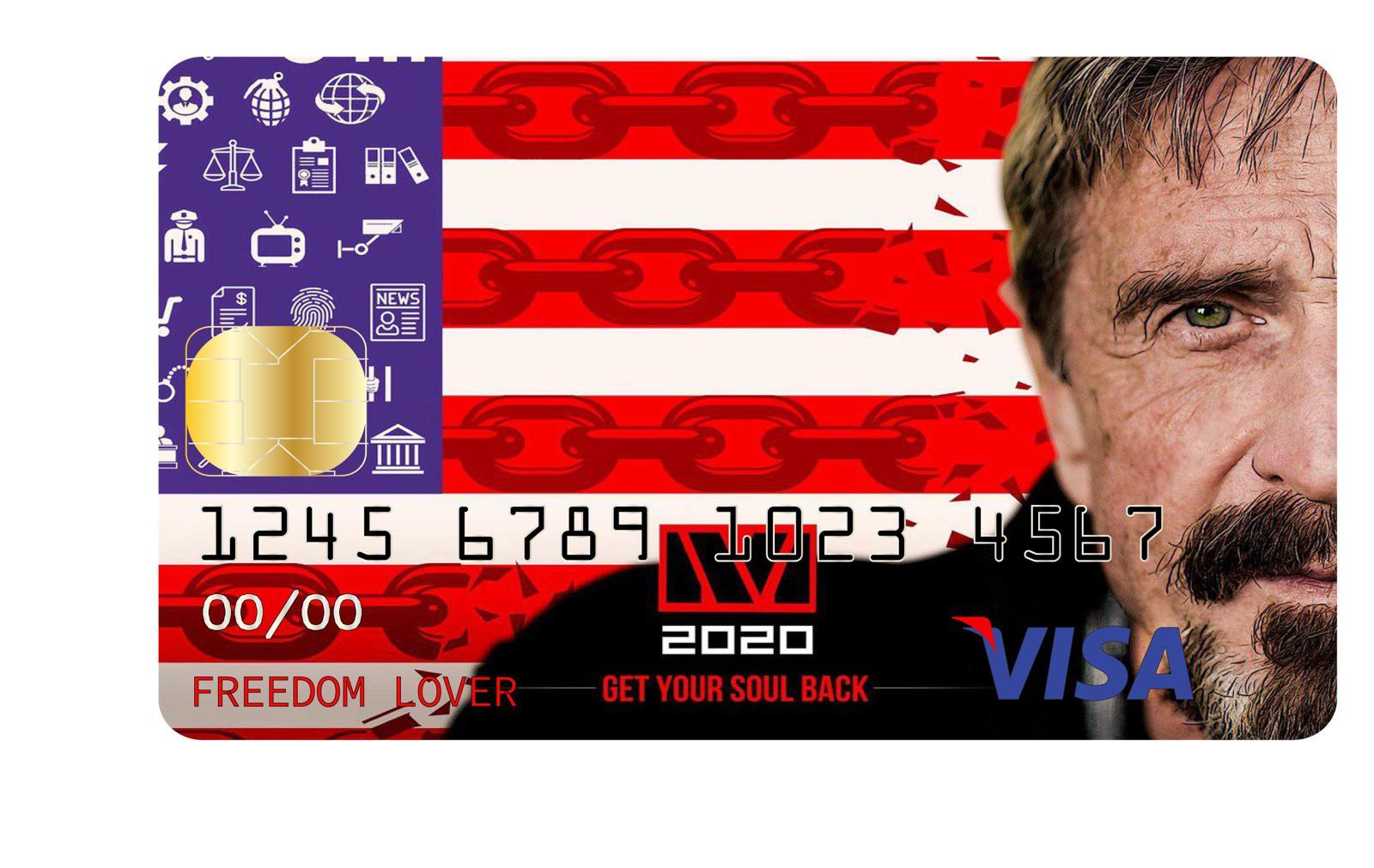 Макафи презентовал  дебетовую биткоин-карту