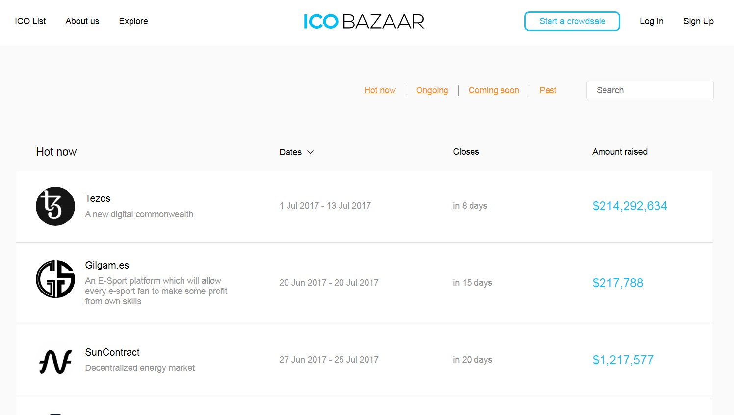 ICO bazaar